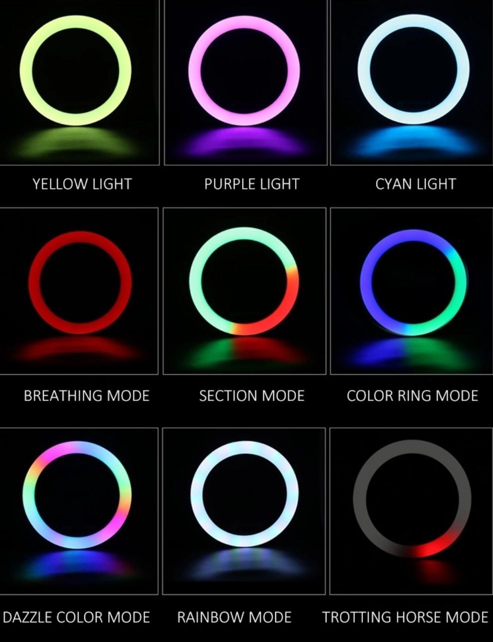 リングライト色の変更